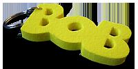 Das Erkennungszeichen der Aktion BOB - der knallgelbe Schlüsselanhänger